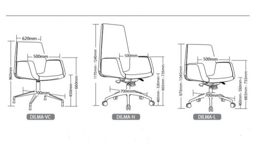 DILMA EXECUTIVE SEATING RANGE 3