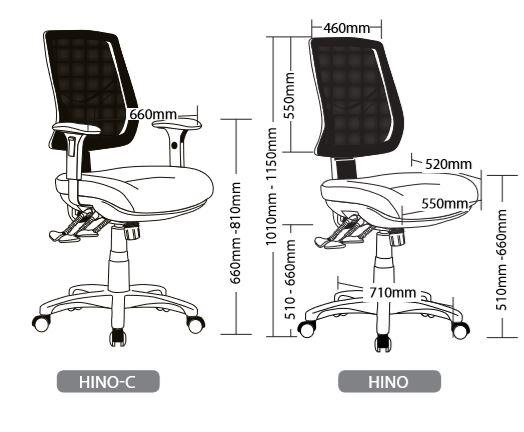HINO SEATING RANGE