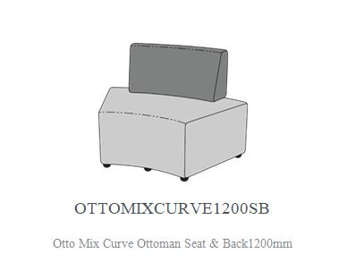 OTTO MIX CURVE OTTOMAN WITH BACK SUPPORT 1