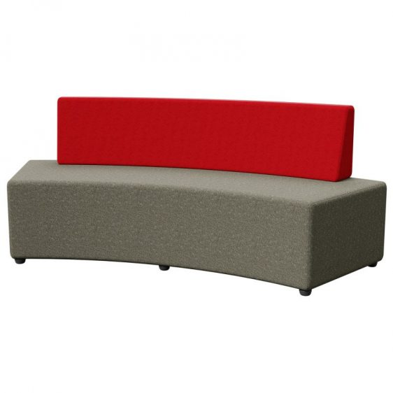OTTO MIX CURVE OTTOMAN WITH BACK SUPPORT