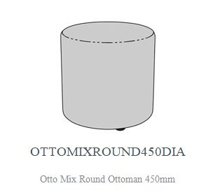 OTTO MIX ROUND OTTOMAN 1