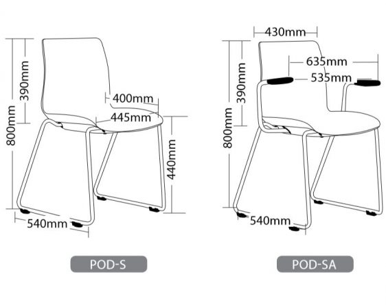 POD SLED HOSPITALITY SEATING