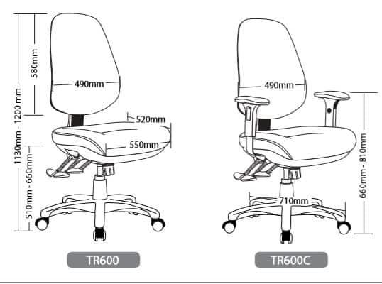 TR600 SEATING RANGE2