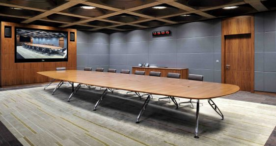 TRAPEZE BOARDROOM TABLE -1