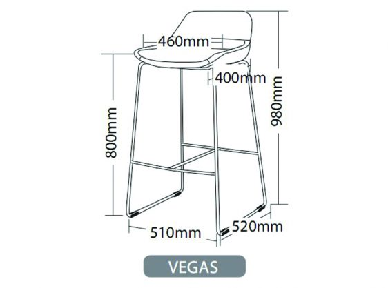 VEGAS BAR STOOL